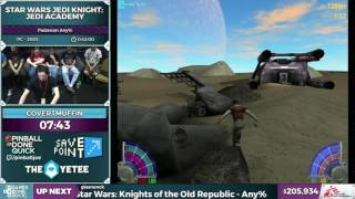 Star Wars: Jedi Knight - Jedi Academy by CovertMuffin in 0:37:11 - SGDQ2016 - Part 46