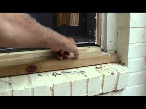 Window sill replacement under a plate glass #2