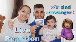 ICH BIN SCHWANGER! l LIVE REAKTION l 5 UND 6 SSW l FAMILIE SAID