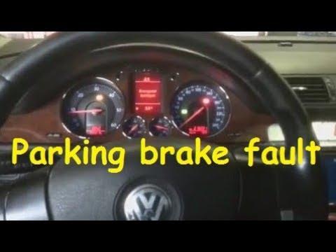 VW Passat B6 Electronic Parking brake fault 02432 - supply voltage