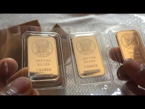 1 Gram Gold  and 1 oz Silver Bullion UNBOXING!! From JM Bullion.  Sunshine Mint.