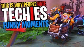 This is Why People Hate Techies - DotA 2 Funny Moments