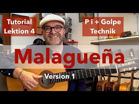 Malagueña 1 - Flamenco Gitarre Lernen-Tutorial-Lektion 4