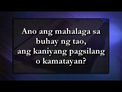 Ano ang mahalaga sa buhay ng tao, ang kaniyang pagsilang o kamatayan?