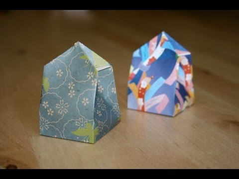 how to make an origami box rectangle with lig