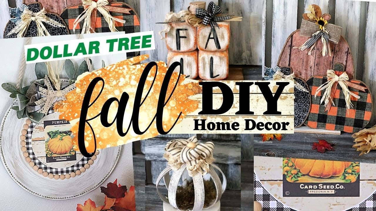 🍁 NEW FALL DIY Home Decor Ep.20/Dollar Tree Fall 20220/Dollar Tree DIY/Cheap  Fall Crafts