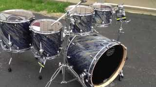 New 2013 Saturn Iv Mh Kit Marine Spiral Maple Walnut Drum Set