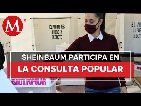 Sheinbaum vota en