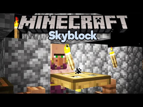 Curing Zombie Villagers! ▫ Minecraft 1.15 Skyblock (Tutorial Let's Play) [Part 8] thumbnail