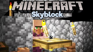 Curing Zombie Villagers! ▫ Minecraft 1.15 Skyblock (Tutorial Let's Play) [Part 8]