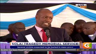 Solai tragedy memorial service - Governor Nakuru County, Lee Kinyanjui