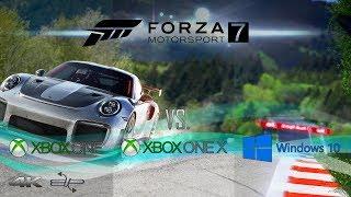 Forza Motorsport 7 : Xbox One vs Xbox One X vs PC Comparison 4k BUP