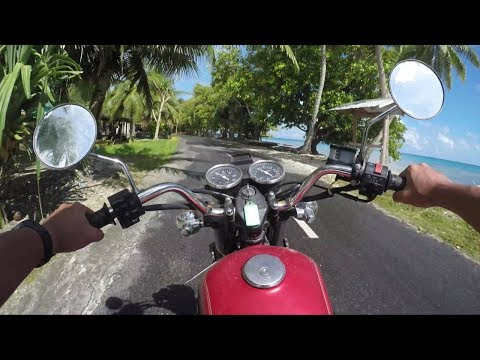 【2.7K】Funafuti island in Tuvalu : Touring by a motorcycle【Go