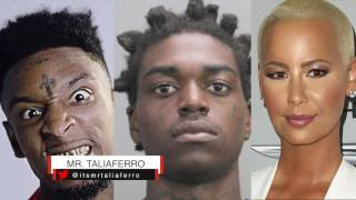 21 Savage Says People Think He Not Gangster Or Savage Anymore Because He Dating Amber Rose But Kodak Resimi