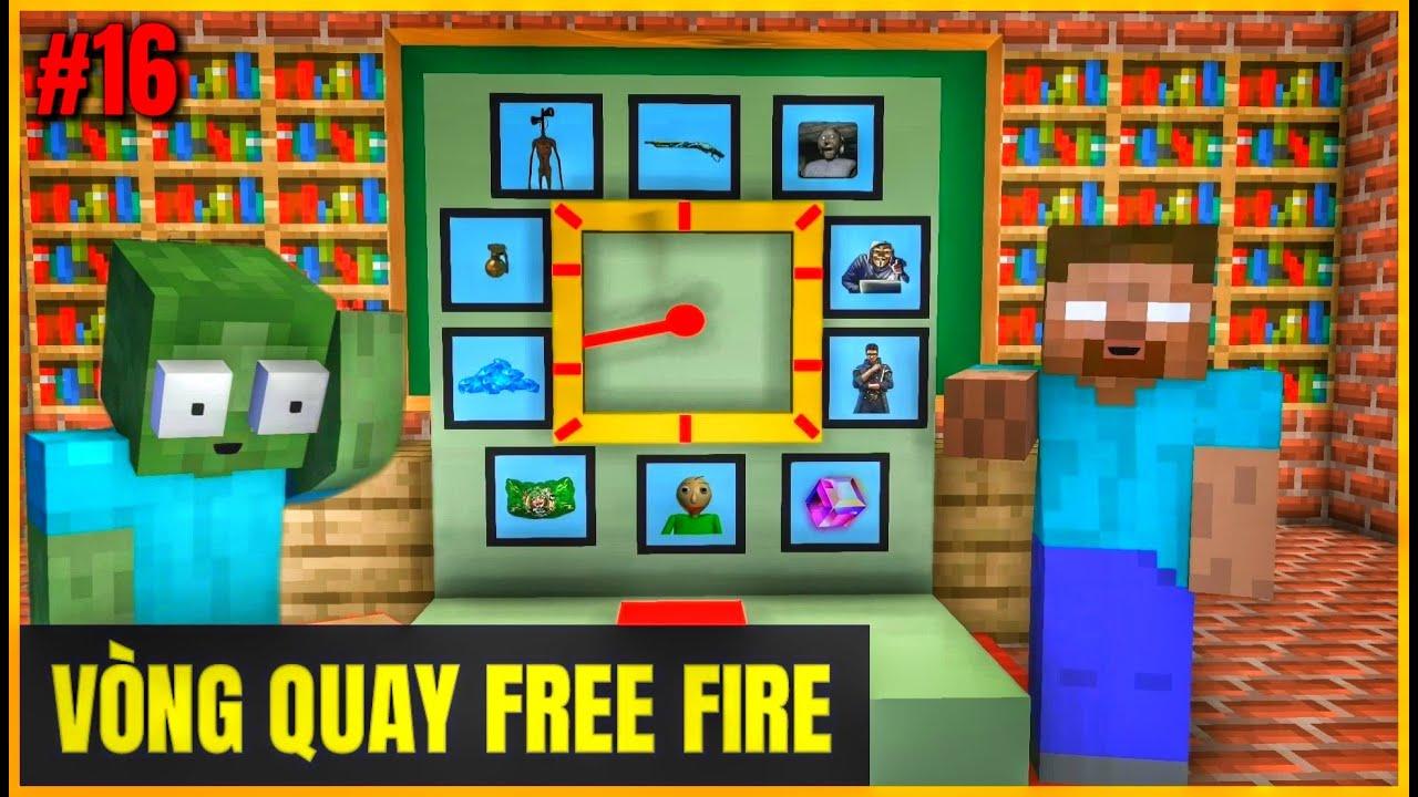 [ Lớp Học Quái Vật ] VÒNG QUAY MAY MẮN FREE FIRE | Minecraft Animation