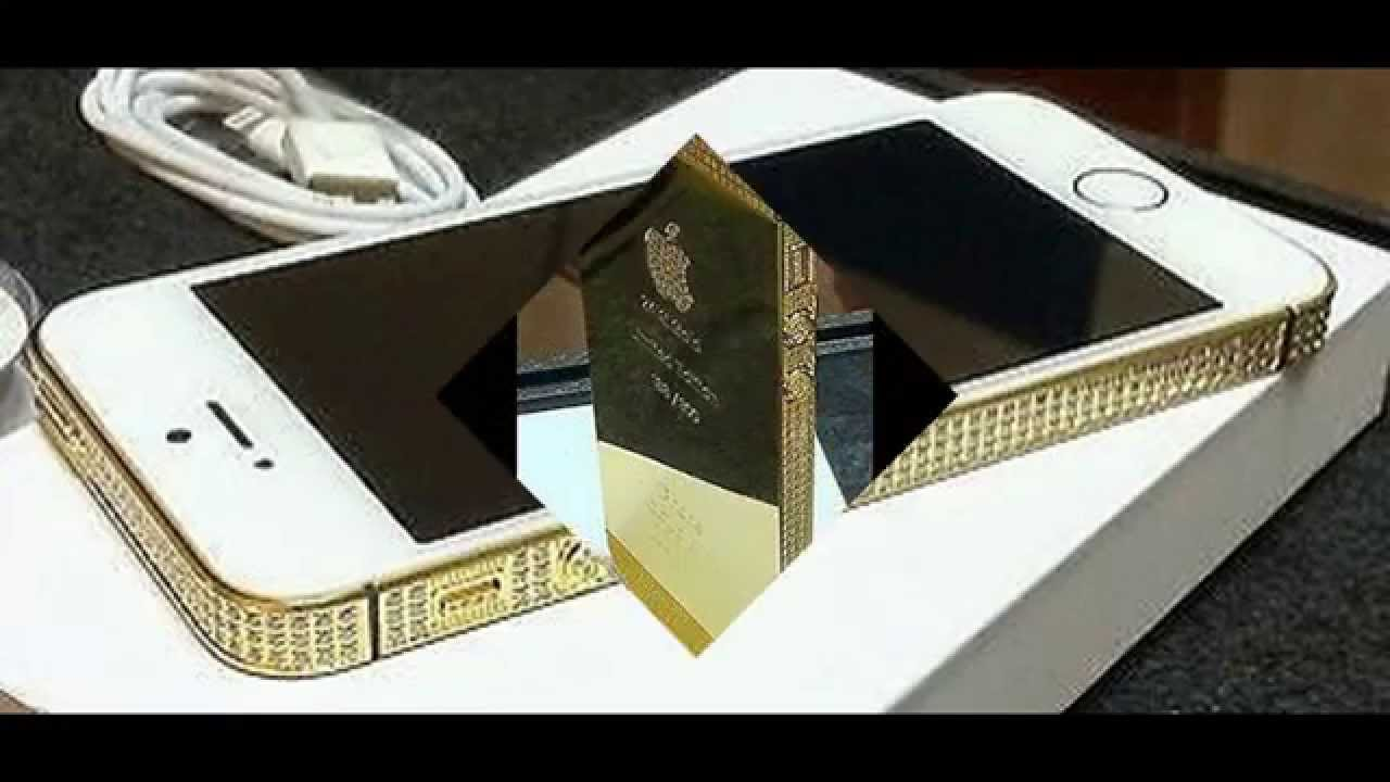 Apple iPhone 5S White Limited 24kt Gold   Swarovski Crystal Edition -  UNLOCKED - 16GB - YouTube 5ce2026b1639