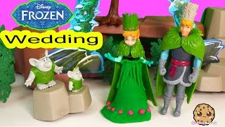 Disney Frozen Wedding Gift Set Playset with Kristoff, Princess Anna, 2 Trolls - Cookieswirlc Video