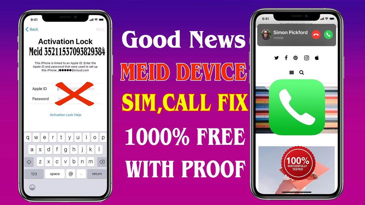Great News MEID iCloud Call FIX 1000% free,iPhone Unable To Active ,Restart,BT Drain FIX With Proof✔
