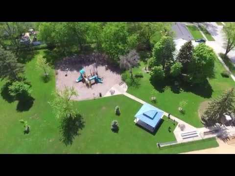 DJI phantom 3 standard in flight footage Elk Grove village IL park.