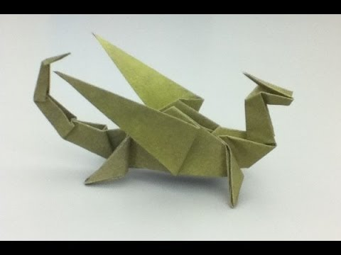 How To Make An Origami Dragon Easy Origami Youtube