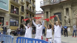Pamplona vuelve a vivir un 6 de julio sin chupinazo de Sanfermines