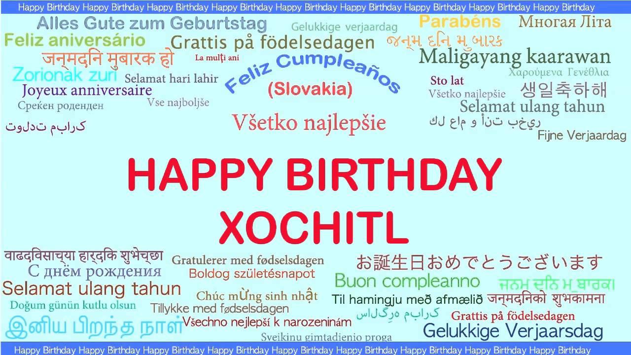 Xochitl Languages Idiomas Happy Birthday Youtube