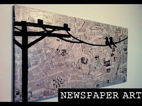 Diy Newspaper art, gifting idea💡