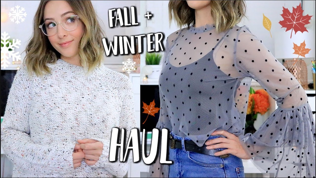 Huge Fall Winter Everyday Clothing Try On Haul Topshop Target Hm More