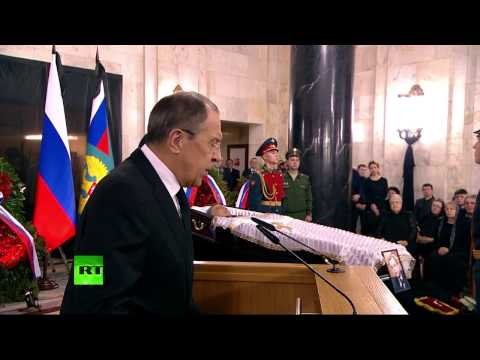 Lavrov speaks at farewell ceremony for slain Russian Ambassador to Turkey