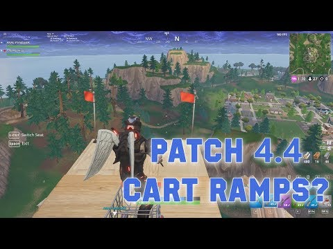 Fortnite Patch 4.4 - Cart Ramps? / New Thermal Scope Assault Rifle Gameplay