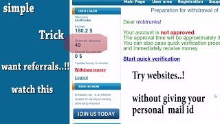 Want more referrals at earning sites | Get temporary mail id In 1 Sec | TempMail | தமிழ்[Tamil]