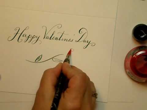 Happy Valentines Day Calligraphy Youtube