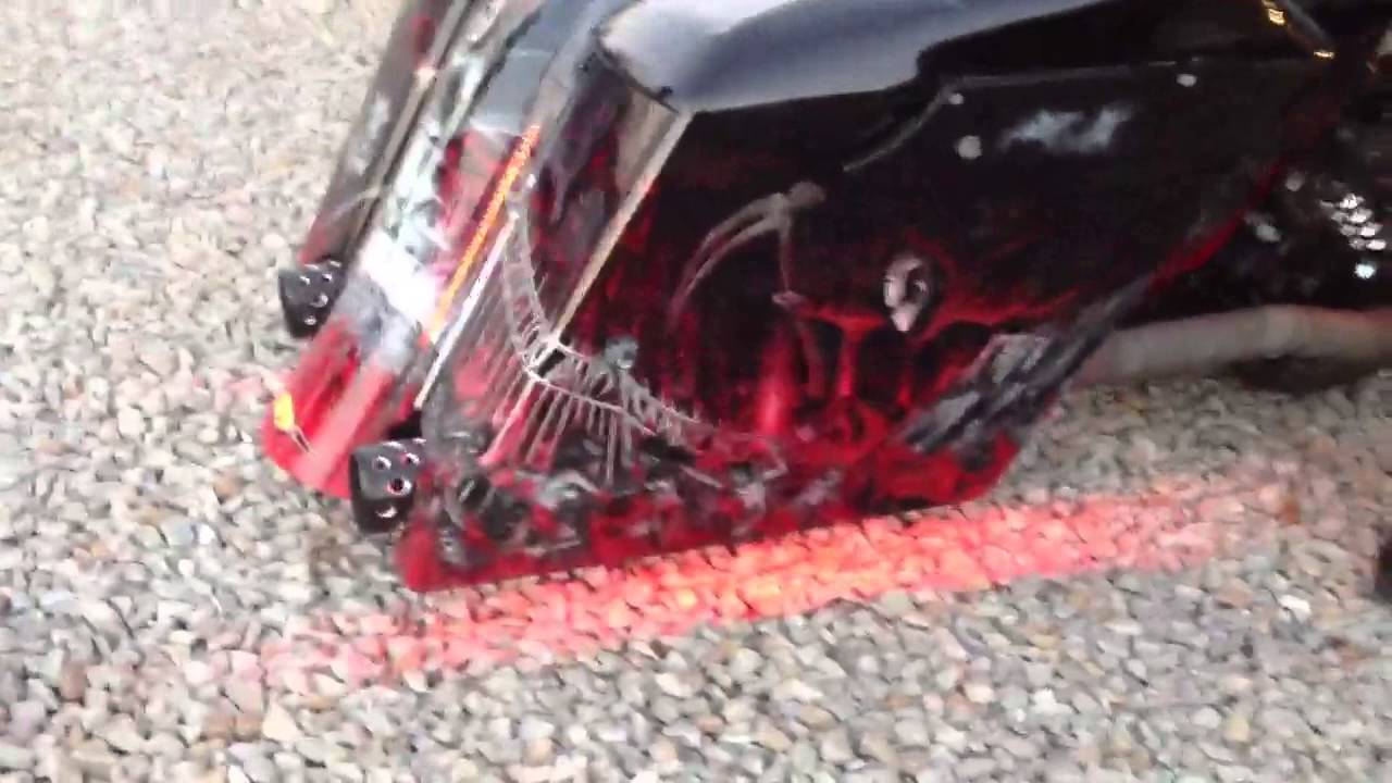 Harley Bagger True Flush Lexan Led Lights Youtube