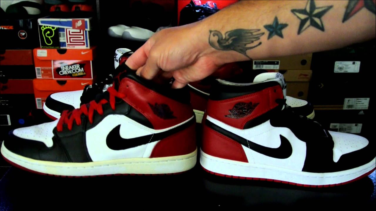 Air Jordan 1 Retro High Og Black Toe Youtube