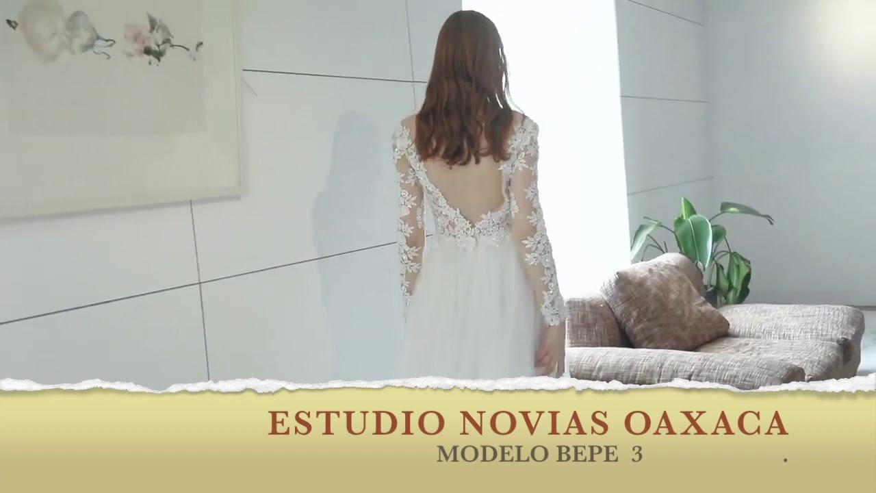 Vestido Vestido Novia Mod Bepe 3 Playa Linea A Ligero Manga 34 Estudio Novias Oaxaca Economico