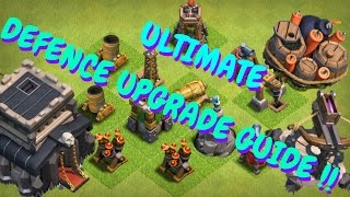 Clash Of Clans Defense Upgrade List | Th 9 | 2017| Defense Priority List| Ultimate Guide