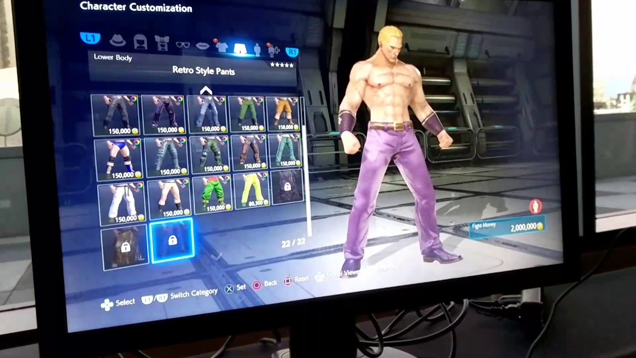 Tekken 7 Geese Howard Customization Tekken World Tour Build Shadows Die Twice Youtube