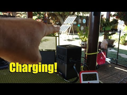 (Part 2) PowerAdd Charger Center portable Li-Ion battery - charging with solar panels