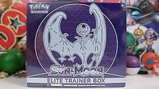 Opening A Lunala Sun & Moon Elite Trainer Box!!!