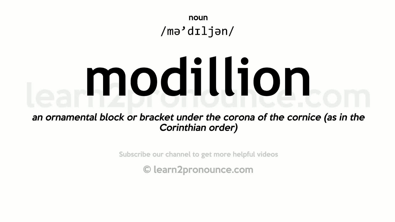How to pronounce Modillion | English pronunciation