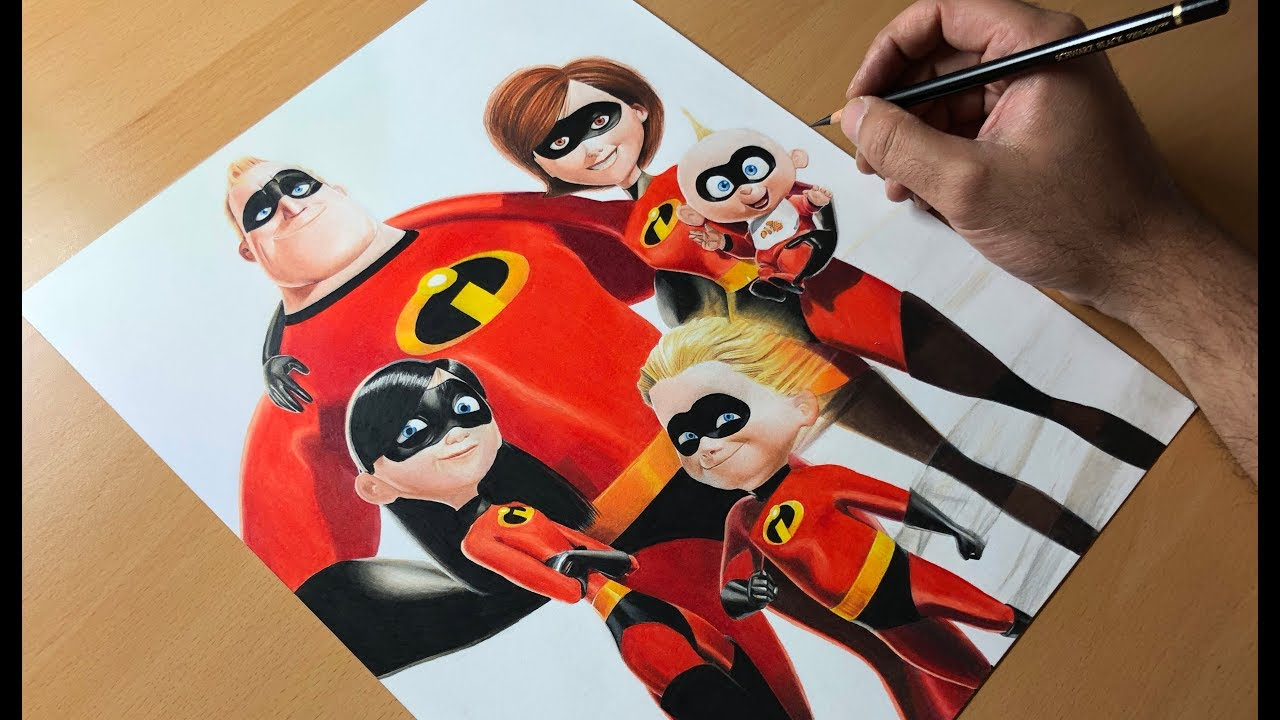 Drawing The Incredibles Time Lapse Artology Youtube