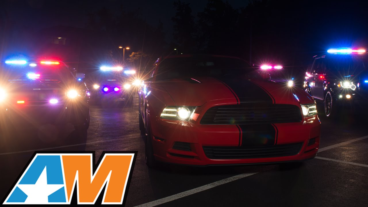 Ford Mustang Police Chase Americanmuscle 2015 Mustang