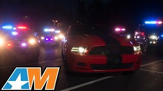 Ford Mustang Police Chase - AmericanMuscle 2015 Mustang Calendar