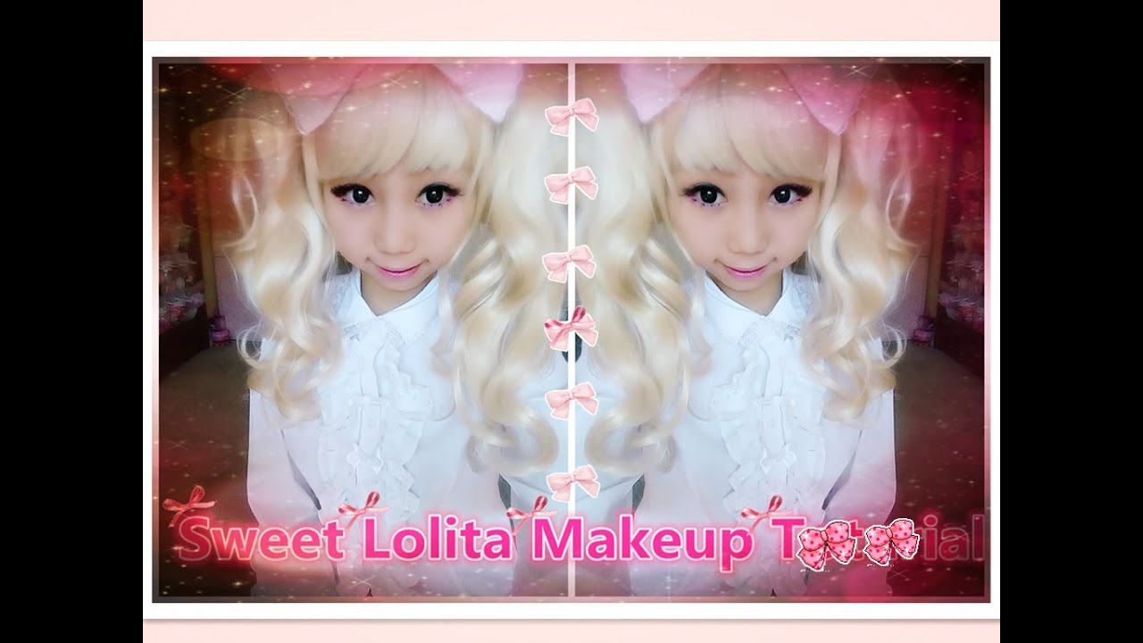 How To Be Kawaii Sweet Lolita Dolly Eye Makeup Tutorial