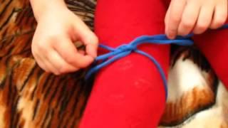 Как научить ребёнка завязывать шнурки. Пример.
