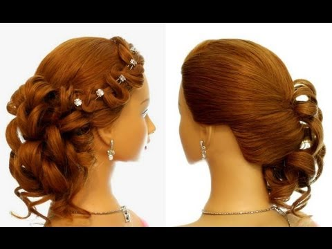 ... prom wedding hairstyle for long hair. Updo hairstyles. - YouTube