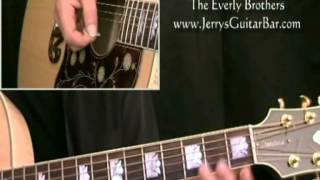 How To Play The Everly Brothers Wake Up Little Susie (intro only)