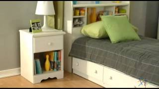 South Shore Summer Breeze Mates Vanilla Bookcase Bed Collection - Product Review Video