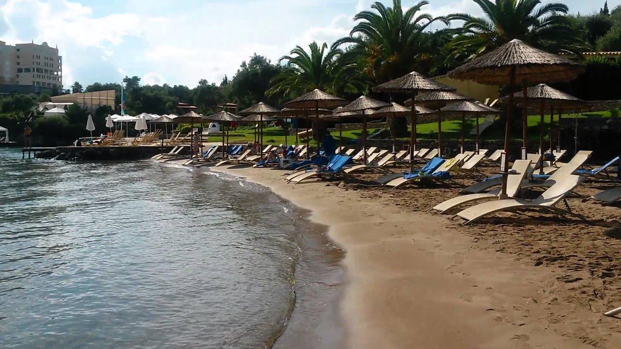 Grecotel Corfu Imperial 5* beach - YouTube