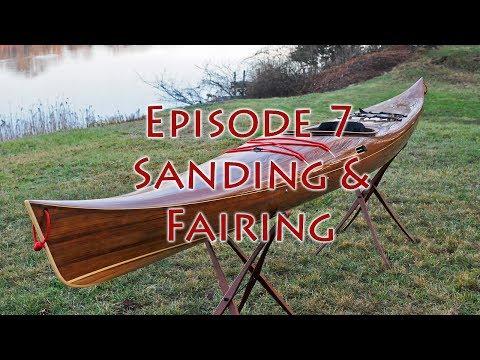 Making a Strip-Built Kayak - Sanding and Fairing - E7